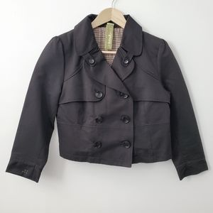 Soia & kyo black button up peacoat